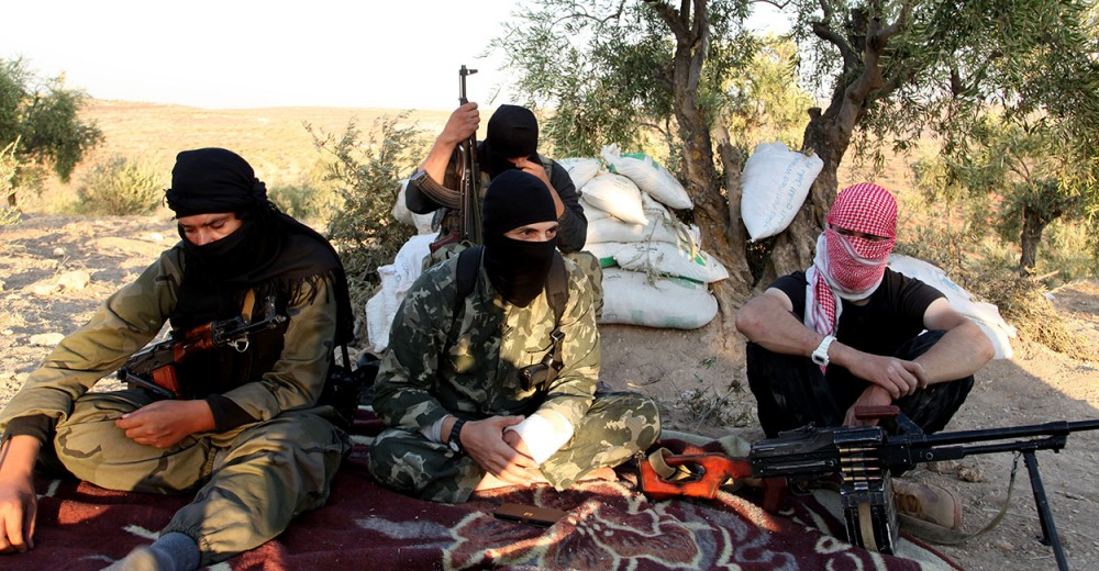 ISIS Al-Qaeda Militants Fighting Syrian Civil War